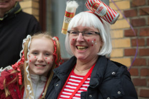 Mother and Daughter smile during Cologne Carnival